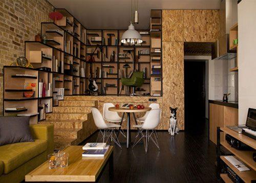 Loft appartement door architect Alex Bykov