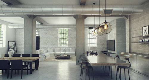 Loft interieur interieur inrichting for Loft interieur