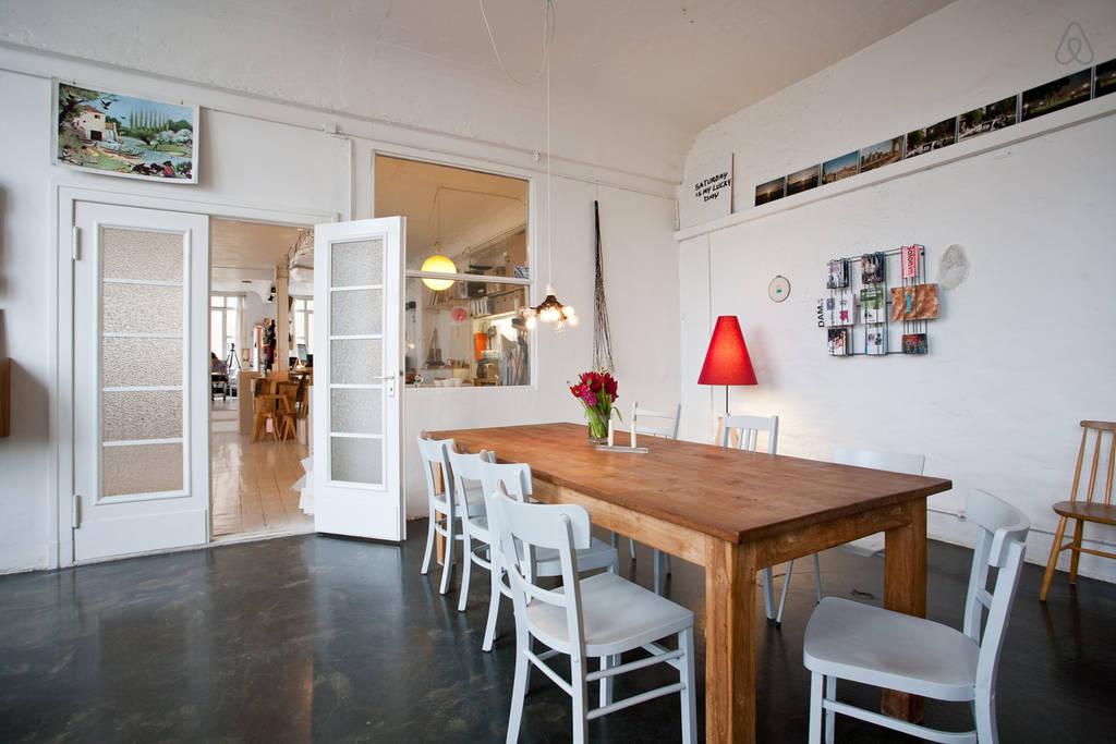 Loft studio appartement om te wonen, te werken en te overnachten