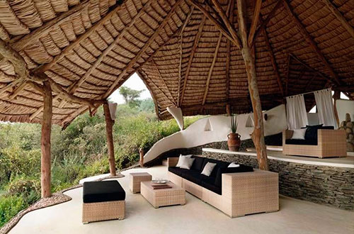 Loungeset in de tuin
