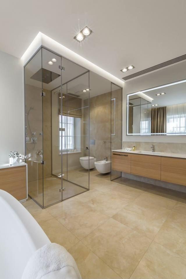 Luxe badkamers voorbeelden lake house