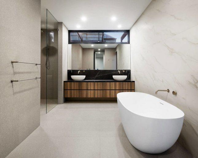 Luxe badkamers voorbeelden vrijstaand bad