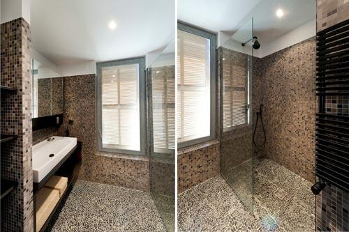 Luxe bruine badkamer in marseille interieur inrichting for Badkamer artikelen
