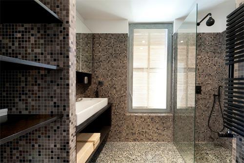 Luxe bruine badkamer in marseille interieur inrichting - Bruine en beige badkamer ...