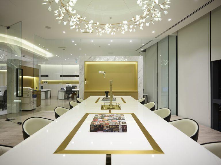 Luxe en chique kantoor van modetijdschrift MOJEY