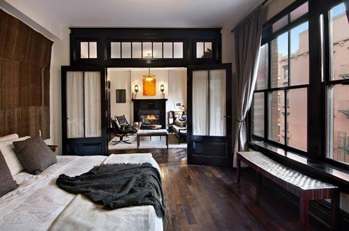 Luxe slaapkamer van 1-kamer appartement New York