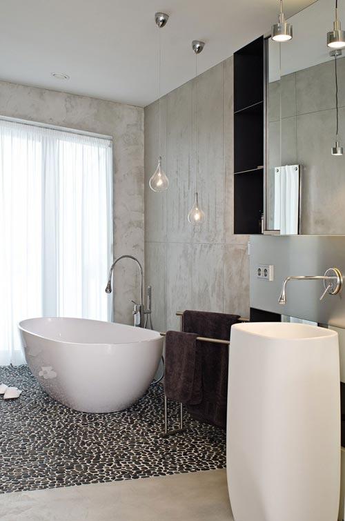 Luxe slaapkamer en badkamer  Interieur inrichting