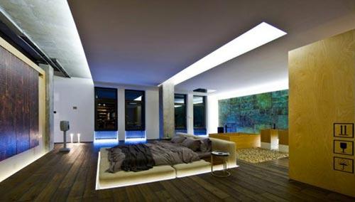 Badkamer In Slaapkamer Ervaring : Luxe slaapkamer van loft in Kiev ...