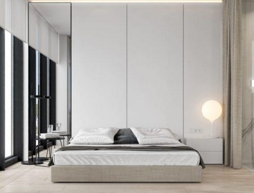 Luxe slaapkamer suite met open badkamer