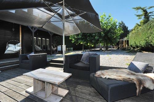 Luxe villa tuin interieur inrichting - Buitenkant terras design ...