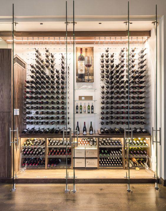 10x luxe wijnkelders interieur inrichting - Moderne wijnkelder ...