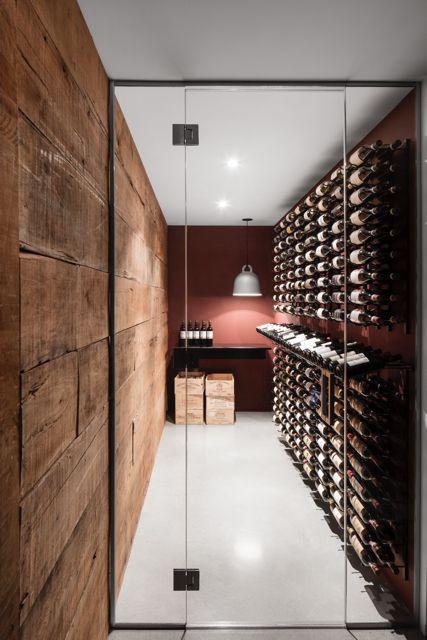 Luxe wijnkelder
