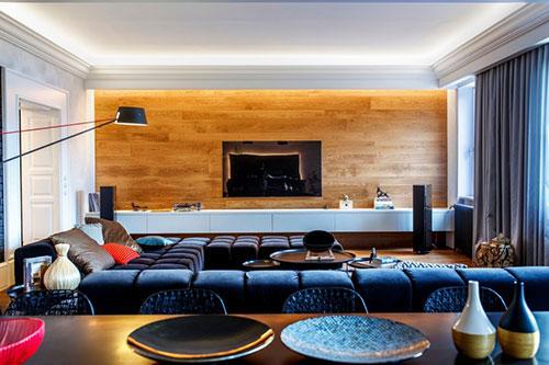 Luxe Woonkamer Inrichting : Luxe woonkamer met mannelijk tintje interieur inrichting