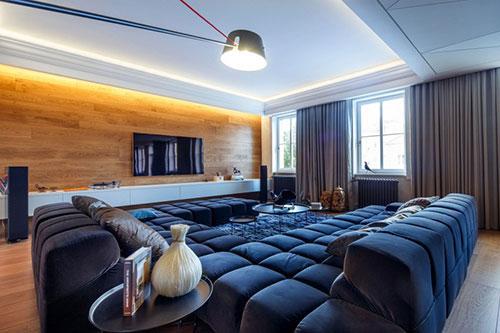 Luxe woonkamer met mannelijk tintje | Interieur inrichting