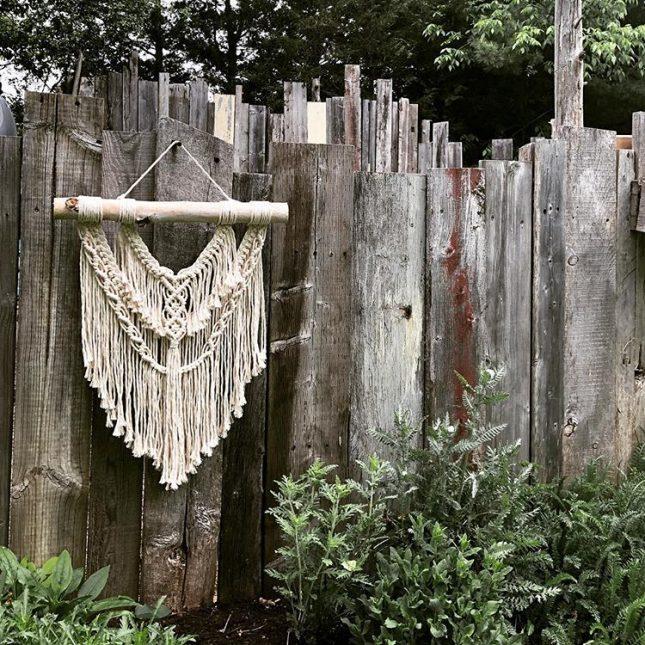 Macrame wandhanger schutting boho tuin