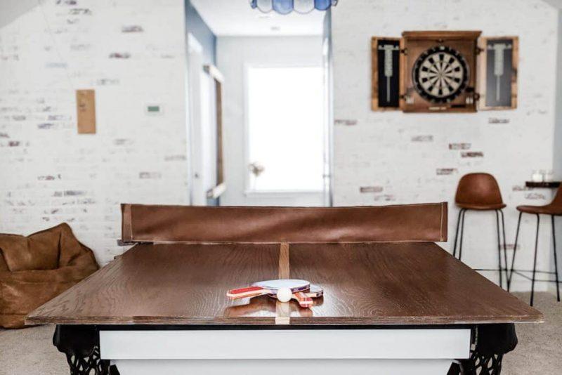 mancave inspiratie gameroom tafeltennis