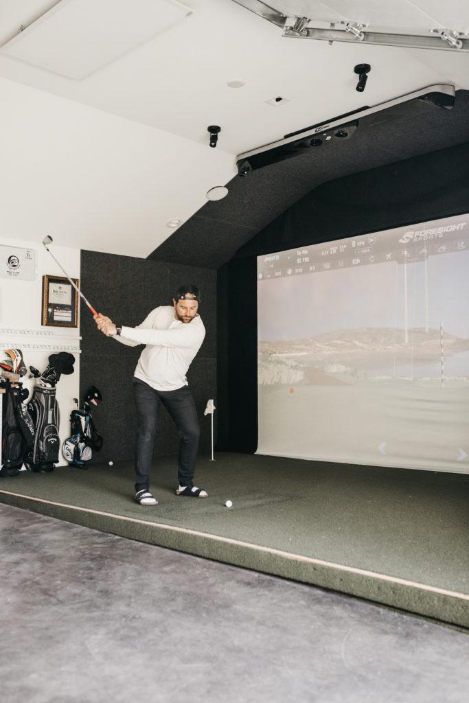 mancave inspiratie garage golfsimulator