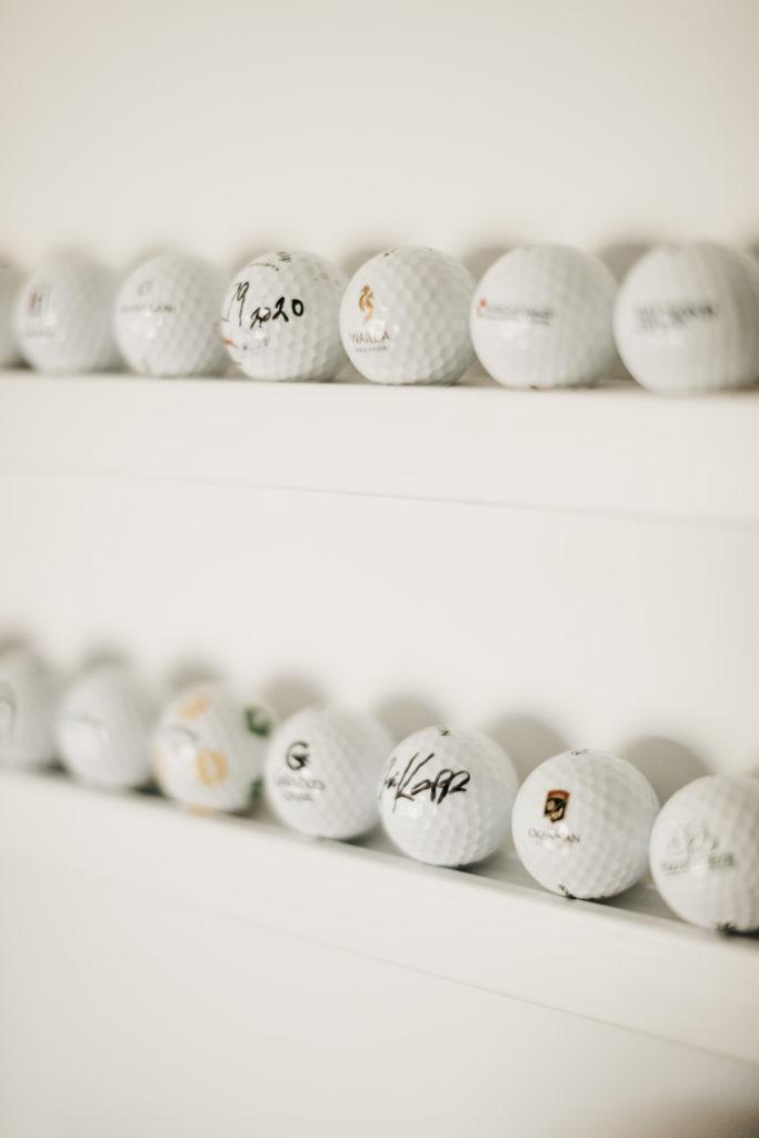 mancave inspiratie garage opslag golfballen
