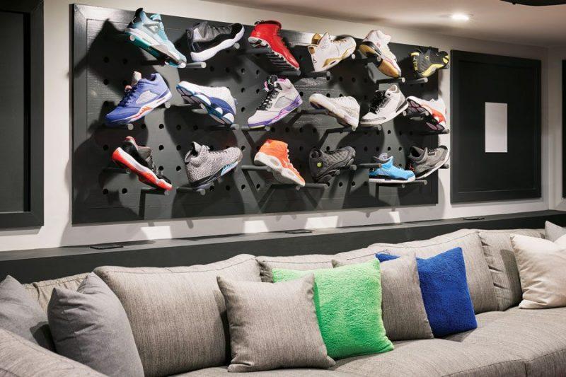mancave inspiratie kelder sneakercollectie