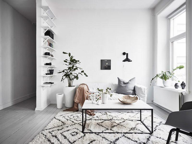 marmer interieur vierkante salontafel marmer blad zwart stalen onderstel