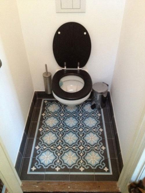 Marokkaanse tegelvloer in toilet