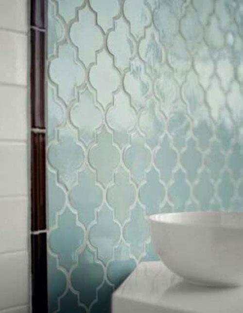 Marokkaanse Wandtegels Keuken : Moroccan Blue Tile Bathroom