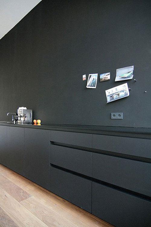 Keuken Zwart Mat : Mat zwarte keuken Interieur inrichting