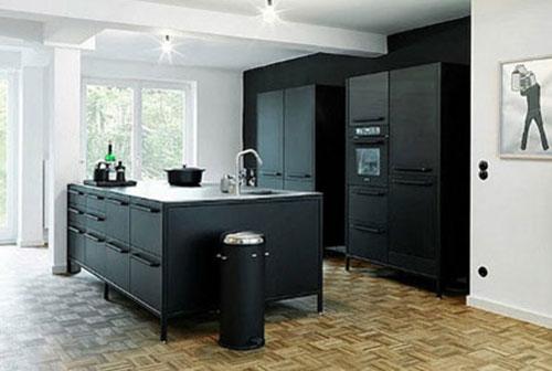 Mat Zwarte Keuken : Mat zwarte keuken interieur inrichting
