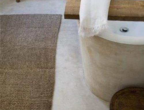 Matte betonstuc in badkamer