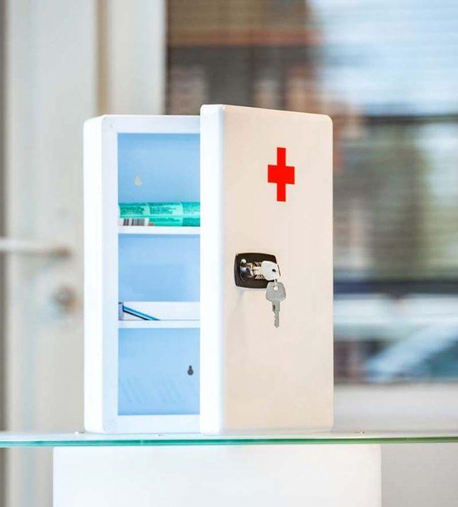 Medicijnkastje met cijferslot