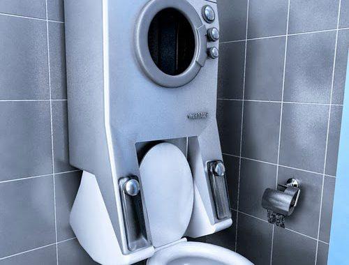 Milieuvriendelijk idee voor kleine badkamer