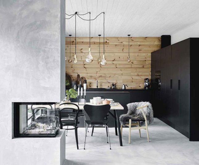 open haard betonstuc keuken