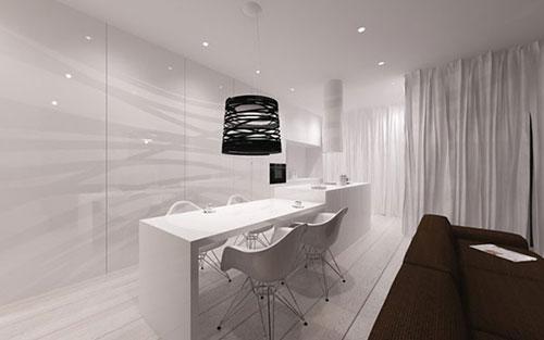 Minimalistisch interieur ontwerp door architecten van minimal