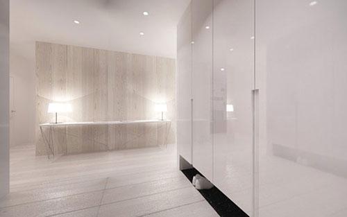 Minimalistisch interieur ontwerp door architecten van minimal studio