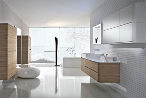 Minimalistische badkamer ontwerpen interieur inrichting - Kleine badkamer zen ...