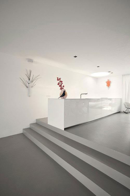 Minimalistische open woonkamer   Interieur inrichting