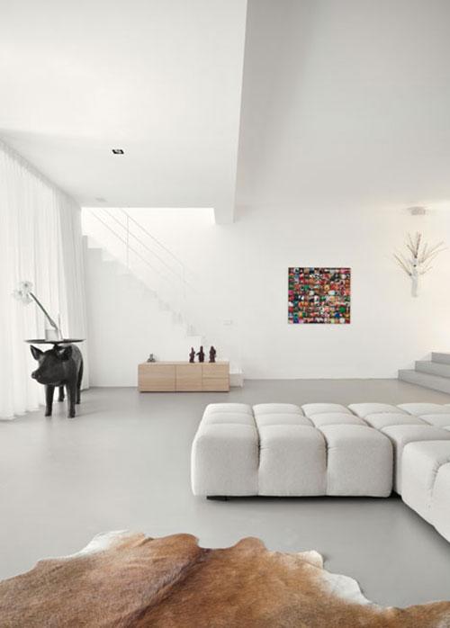Minimalistische open woonkamer interieur inrichting for Strakke woonkamer inrichting