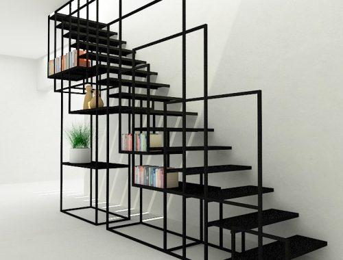 Moderne klassiek trap in herenhuis interieur inrichting - Ontwerp trap trap ...