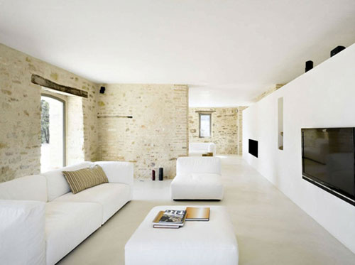 Minimalistische woonkamers interieur inrichting