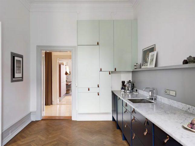 mintgroen interieur blauwe mintgroene keuken
