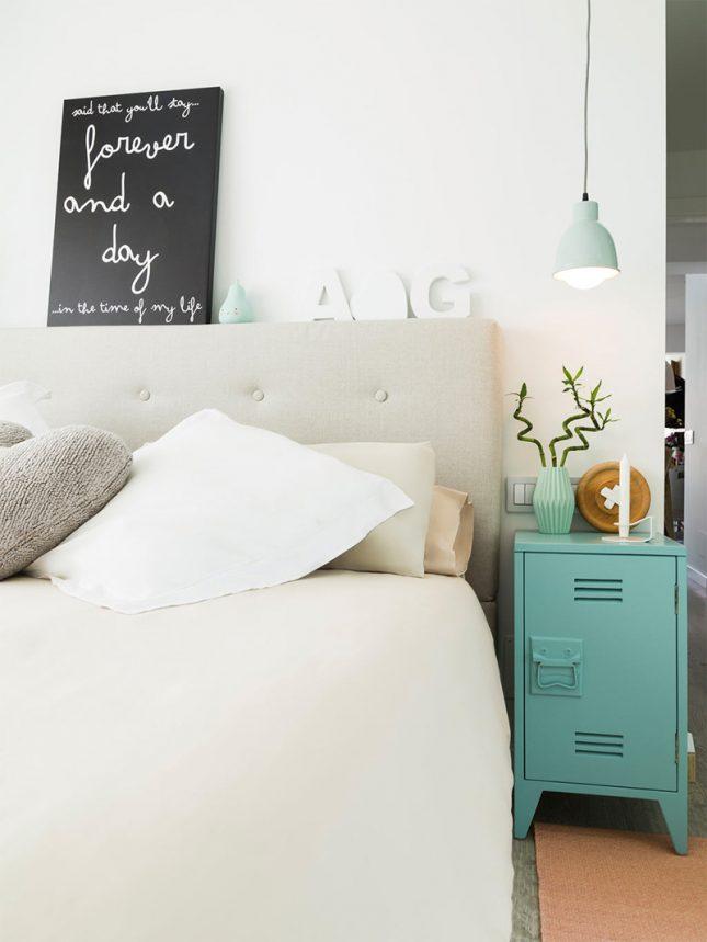 mintgroen interieur mintgroen nachtkastje