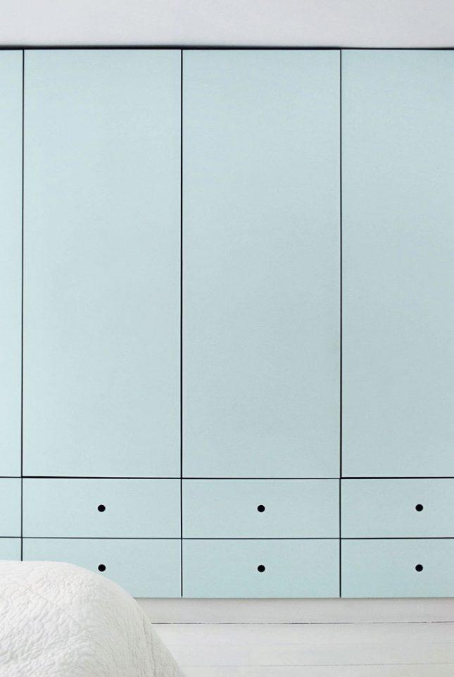 mintgroen interieur mintgroene inbouwkast slaapkamer