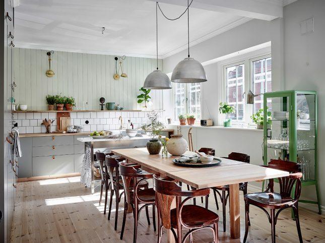 mintgroen interieur mintgroene wandbekleding keuken