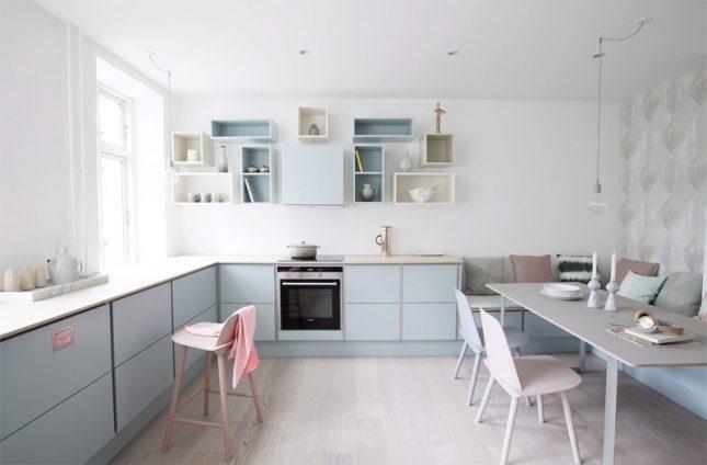 mintgroen interieur pastelblauwe keuken mintgroene accessoires