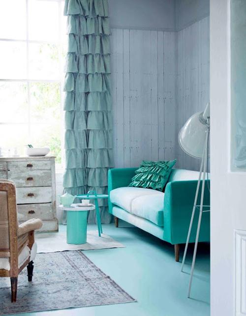 Mintgroene woonkamer | Interieur inrichting