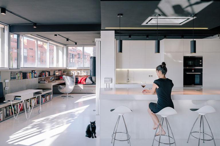 Creatieve Interieur Inrichting : Modern industrieel appartement met creatieve indeling interieur