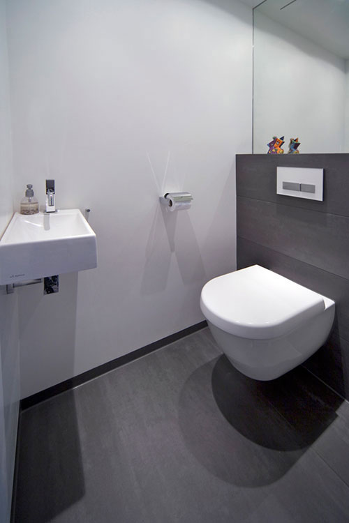 Modern toilet interieur inrichting for Photo toilette moderne