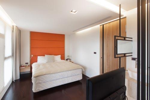 Moderne badkamer met zen gedeelte interieur inrichting