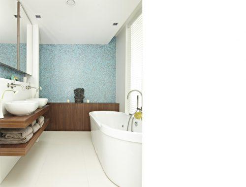Moderne badkamer in nieuwbouw woning