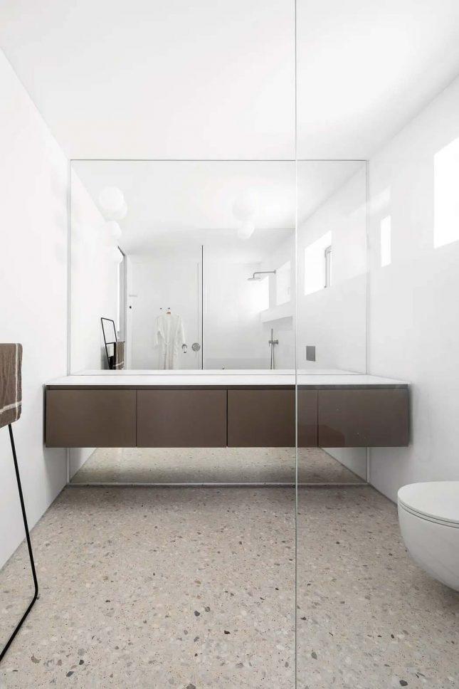 moderne badkamer spiegelwand zwevende badkamermeubel
